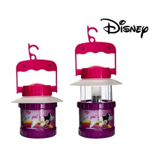 Lámpara infantil de camping con funcionamiento a pilas - motivo de MINNIE MOUSE Y DAISY